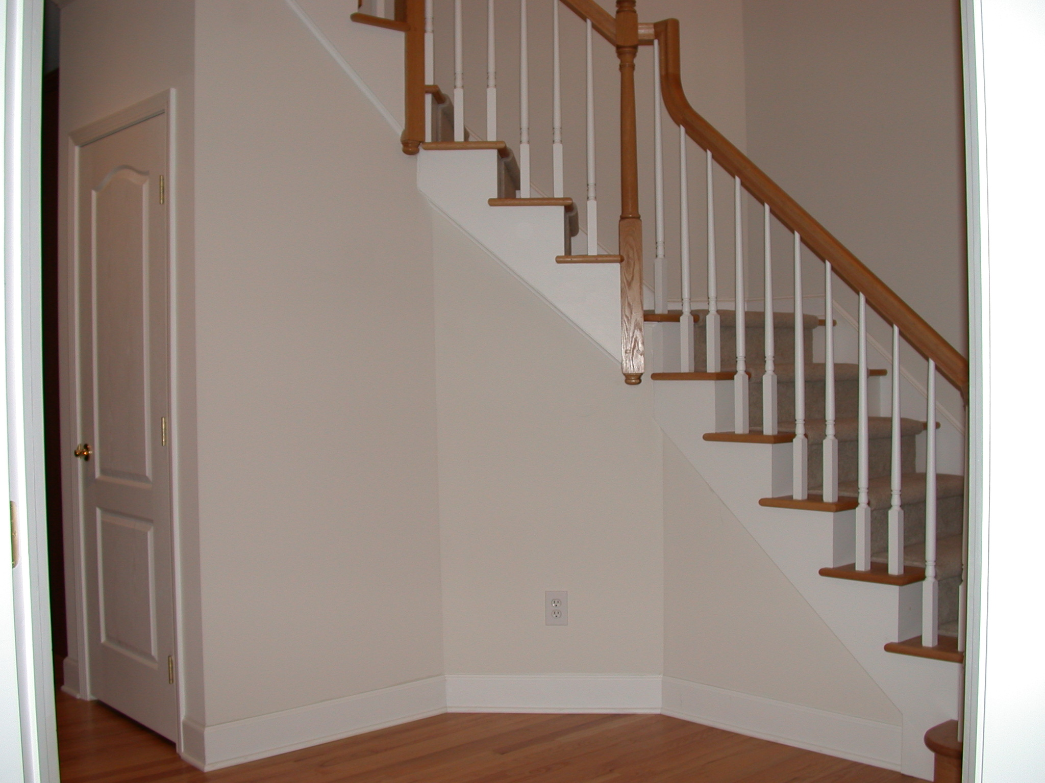 Amazing Side Of Stairs Before Trim